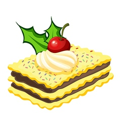 A biscuit for christmas vector