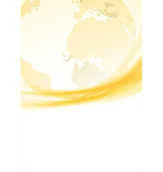 Golden swoosh border global background vector