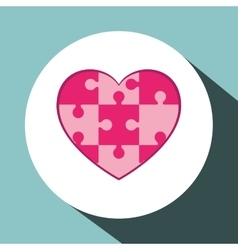 Heart puzzle icon design vector