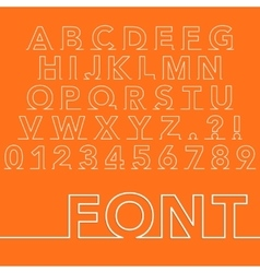 A linear font vector