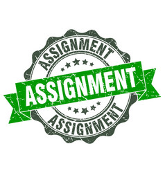 assignment stamp sign seal vector image vector image