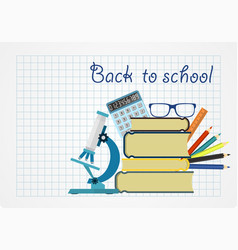 back to school background with place for your vector image