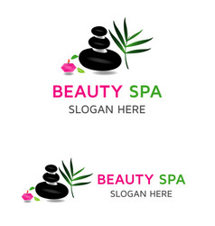 beauty care logo vector image vector image