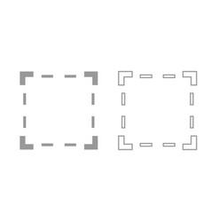 crop grey set icon vector image vector image