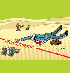 Dead near wealth success is impossible vector