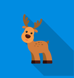 deer flat icon for web and mobile vector image vector image