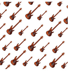 Electric guitar instrument to play music vector