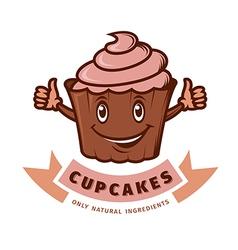 Emblem cupcake vector