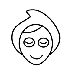 face spa mask line icon sign vector image
