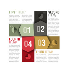 Four parts design template vector