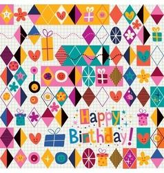 Happy Birthday 9 vector image vector image