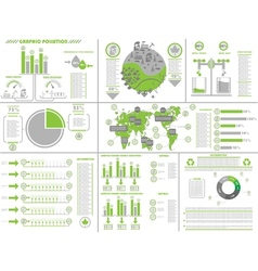 Infographic ecological vector