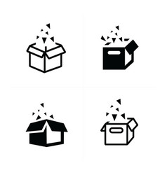 open box icons vector image vector image
