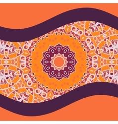 Oriental Postcard Cover design in Warm Color vector image vector image