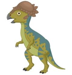 Pachycephalosaurus cartoon vector image vector image