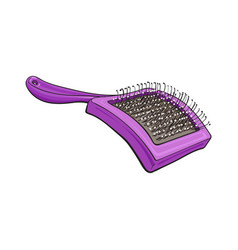 Pet cat dog hair brush grooming accessory vector