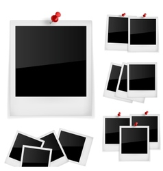 Polariod frames photo vector image