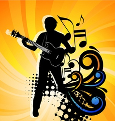 rock group guitarist vector image vector image
