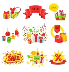 Sale And Promotion Ad Template Set vector image