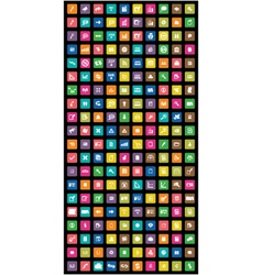 set of 200 colorful mobile icon vector image vector image