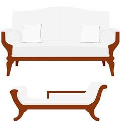 Sofa and divan vector image