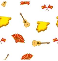 Spain symbols pattern cartoon style vector