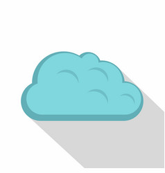 Storm cloud icon flat style vector
