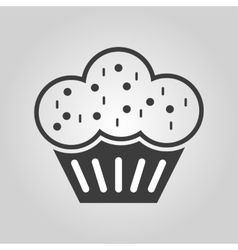 The muffin icon Dessert and baked cake bakery vector image