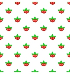 Two strawberry pattern cartoon style vector