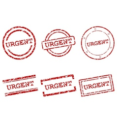 Urgent stamps vector image vector image