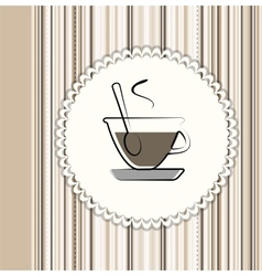 Coffee menu card vector image