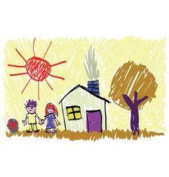 Children picture vector image