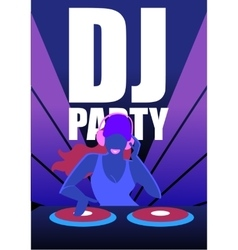 Dj party in night club concept vector