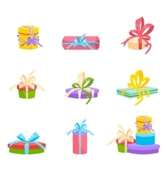 Christmas and birthday gift box  flat design vector