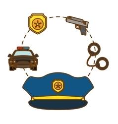 police tools icon image design vector image
