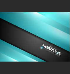 Abstract black and turquoise stripes corporate vector