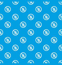 No potato beetle sign pattern seamless blue vector