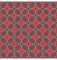 Decorative ethnic love heart pattern vector