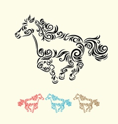 Horse run vector image