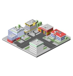 Isometric buildings concept vector