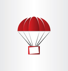 Parachute with message box vector
