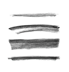 Set of hand drawn chalk marks texture vector