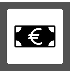 Euro banknote icon vector