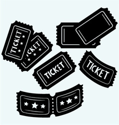 Set cinema tickets vector image