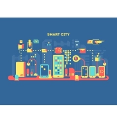 Smart city concept vector
