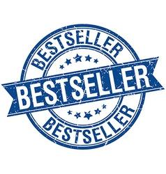 Bestseller grunge retro blue isolated ribbon stamp vector