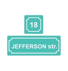 Street sign or house number vector