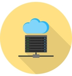 Cloud and server data vector