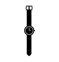 Black icon vintage watch vector