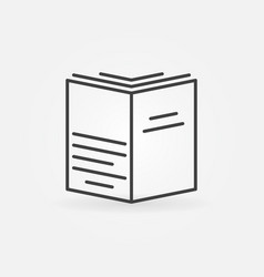 book concept symbol vector image vector image